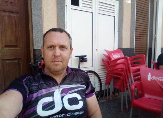 Kris at Villaflor After Riding 1500m up Mt. Teide